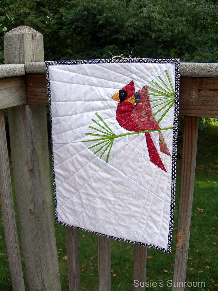 Cardinals mini quilt design by Janeen at Quilt Art Designs ...