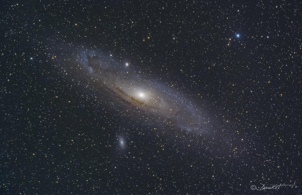 Galaxia de Andrómeda M31 Fotografía Dani Caxete