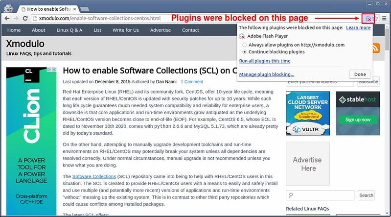 plugins chrome manage