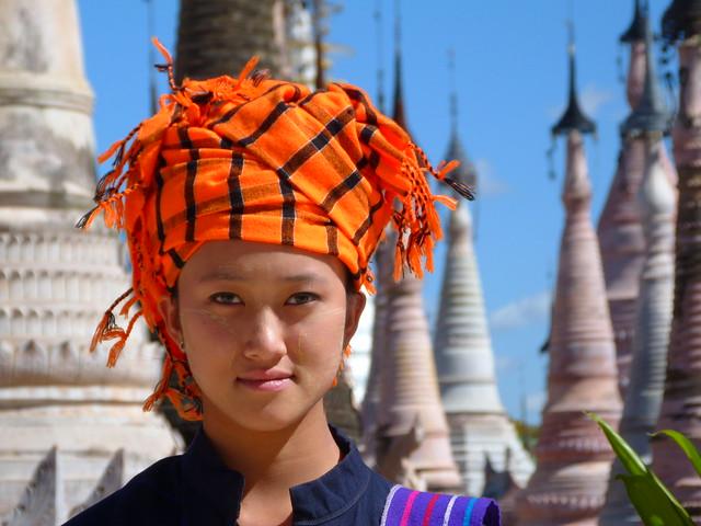 Mujer Pa-O en Kakku (Myanmar)