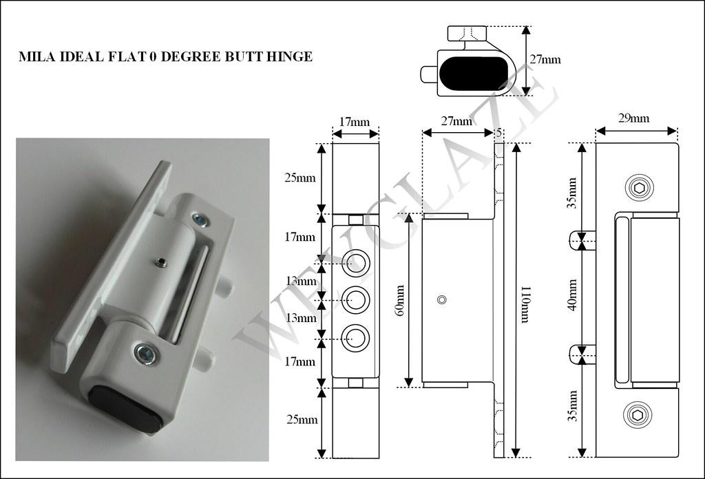 Mila Evolution Ideal Upvc Door Hinge Flat Butt Hinge White Or Brown Bh3 Ebay