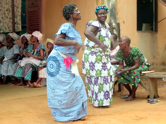 Pictures of Togo Africa, dancing to the music
