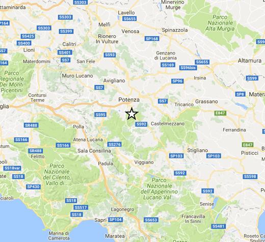 Sisma magnitudo 3.8 in provincia Potenza