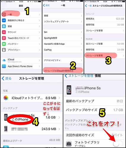 iOS9 で iCloud のバックアップが失敗するときの対処方法