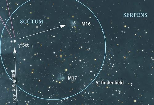 VCSE - Mai kép - Messier 16 keresőtérkép