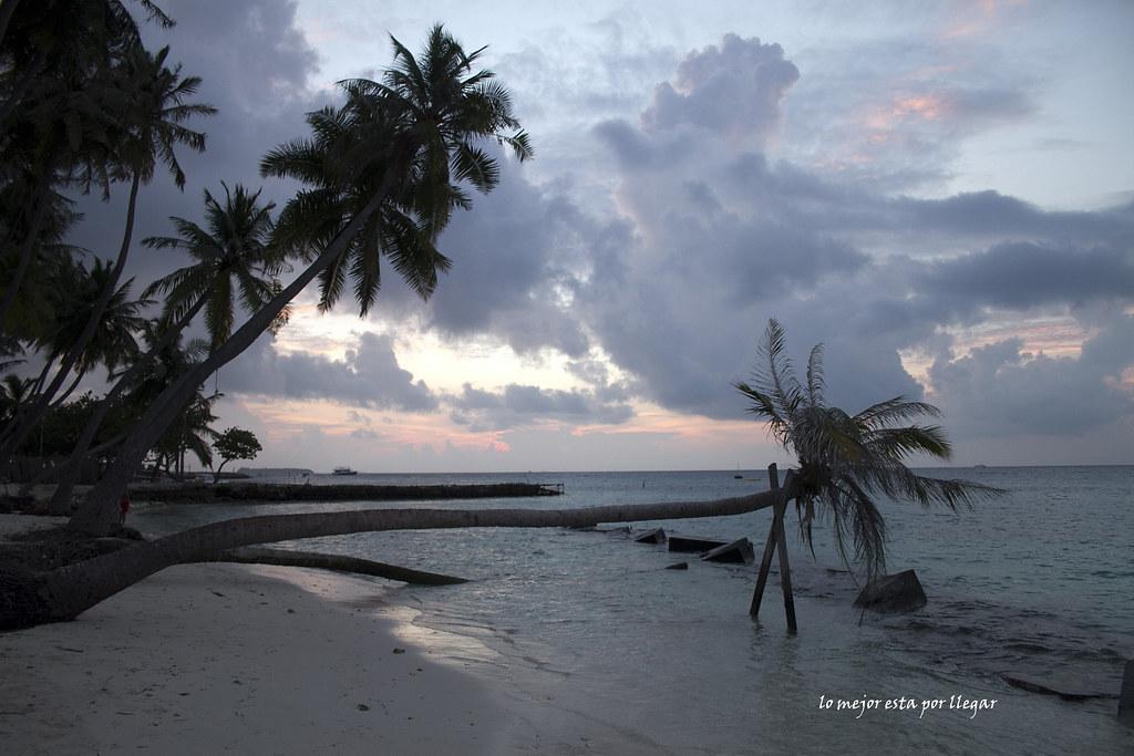 Bikini Beach en Maafushi, Maldivas