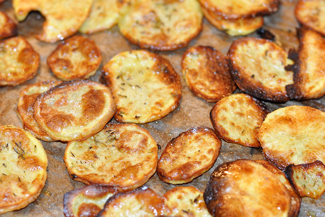 Selbst gemachte Kartoffel-Chips für die Moules Marinières - Foto: Brigitte Stolle