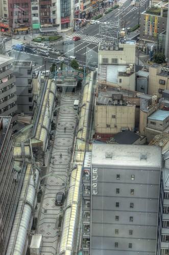Views from 'TSUTENKAKU' tower on DEC 01, 2016 (10)