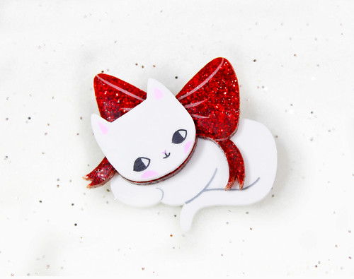 i love crafty christmas kitten
