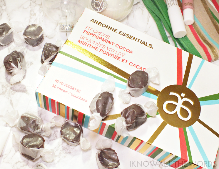 arbonne holiday 2016 peppermint cocoa fit chews (2)