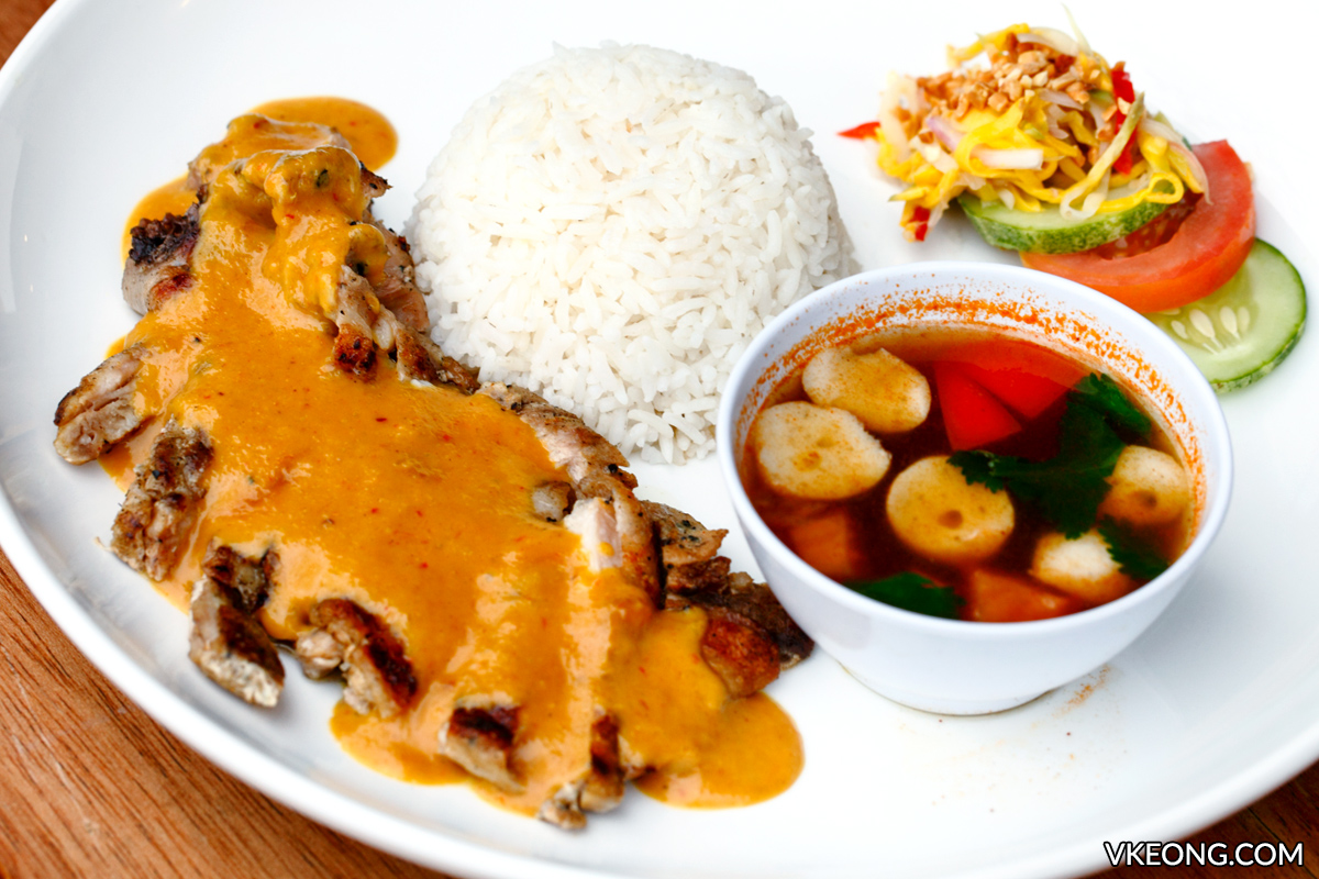 Tryst Cafe Ayam Percik with Rice and Tomyam
