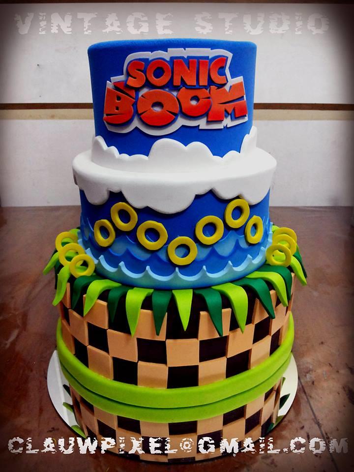 Cake Sonic Boom Vintage Studio Artes Pl 225 Sticas E E V A
