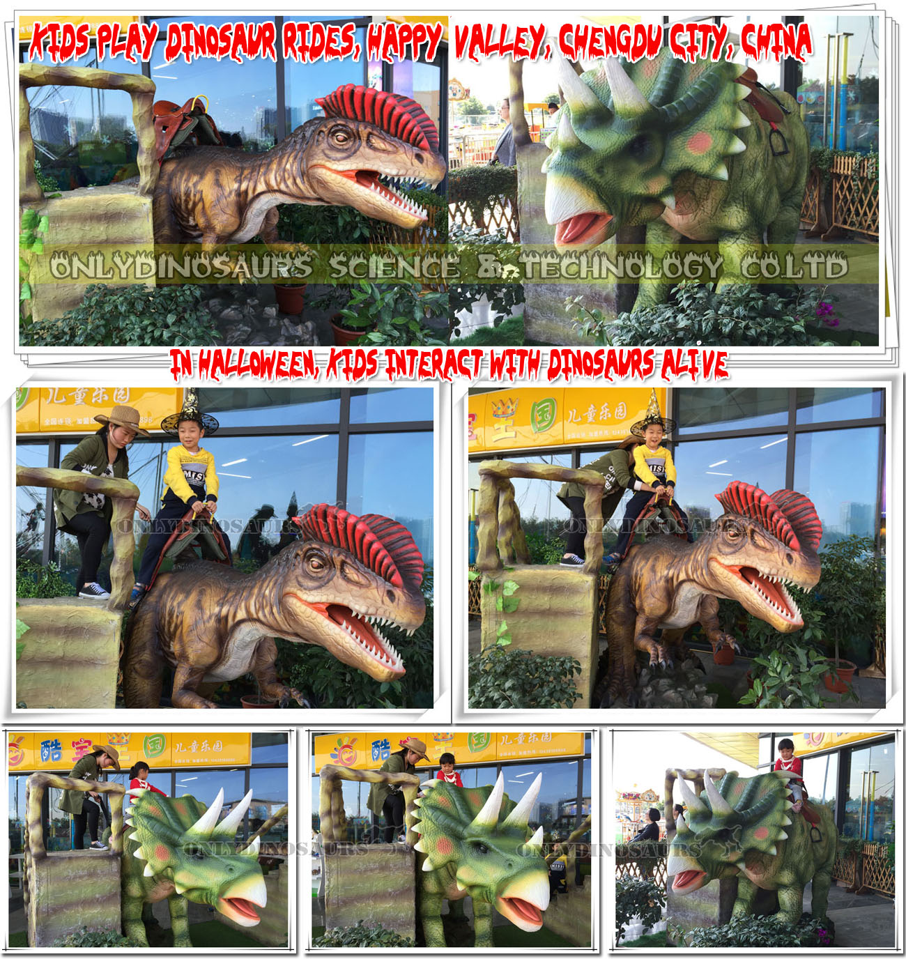 Kids Interact with Dinosaurs Alive