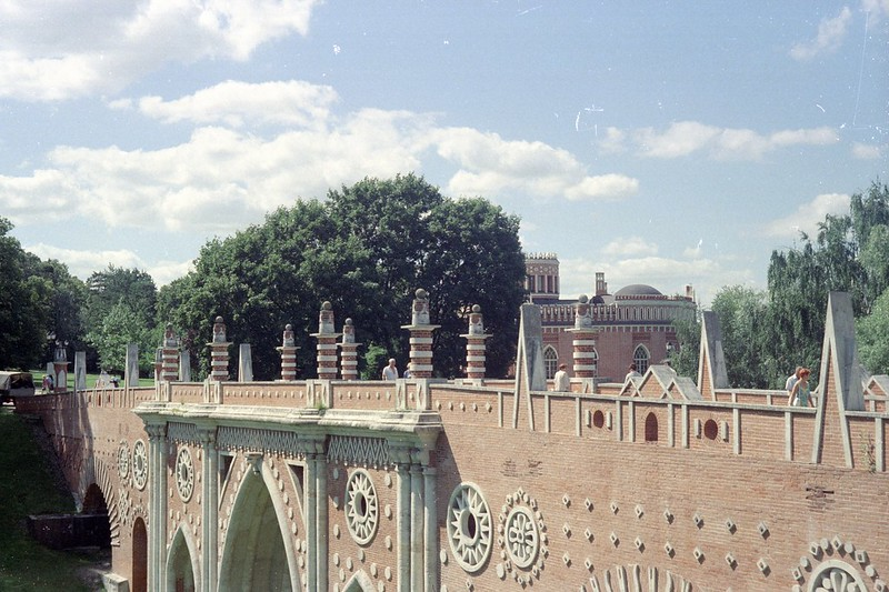 Tsaritsyno. Large («Gothic») bridge