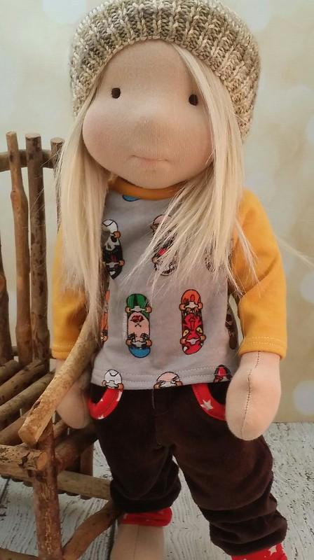 """Logan, a 16"""" waldorf doll"""