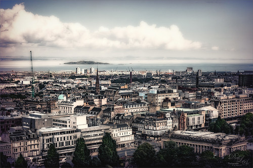 Image of view from Edinburgh Castle in Scotland