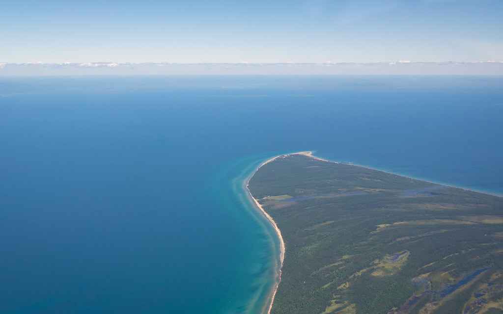 Whitefish point flying just south of whitefish point for White fish point