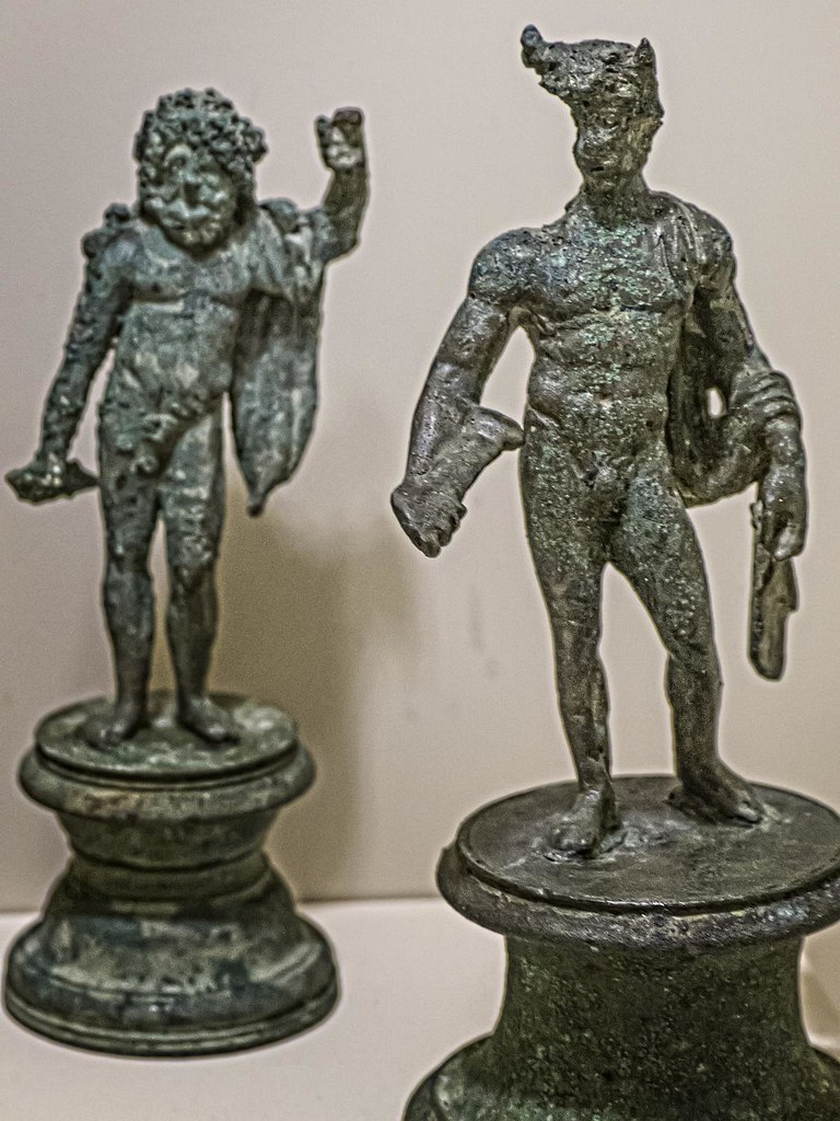 a standing jupiter and mercury from a roman lararium hous flickr. Black Bedroom Furniture Sets. Home Design Ideas