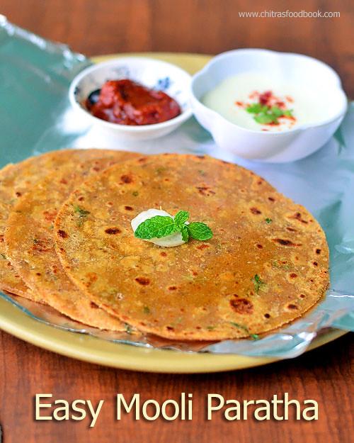 Easy mooli paratha