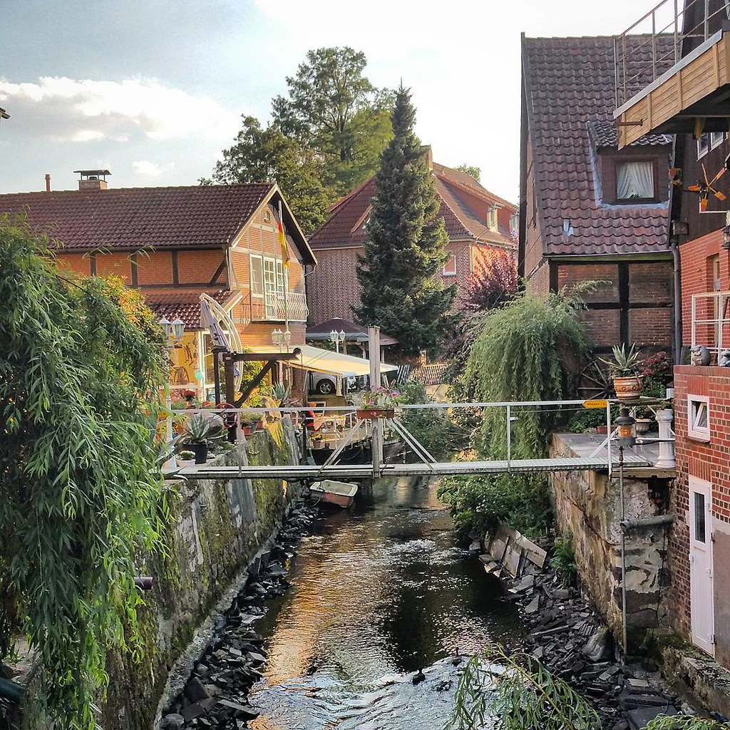 Romantic view winsen luhe old town oldtown in lower - Zimmerei winsen luhe ...