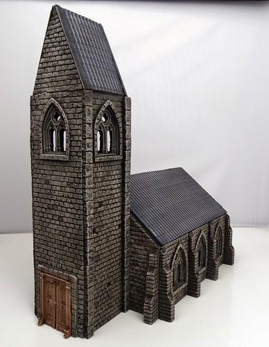 28mm Dorfkirche & modulare Straßen