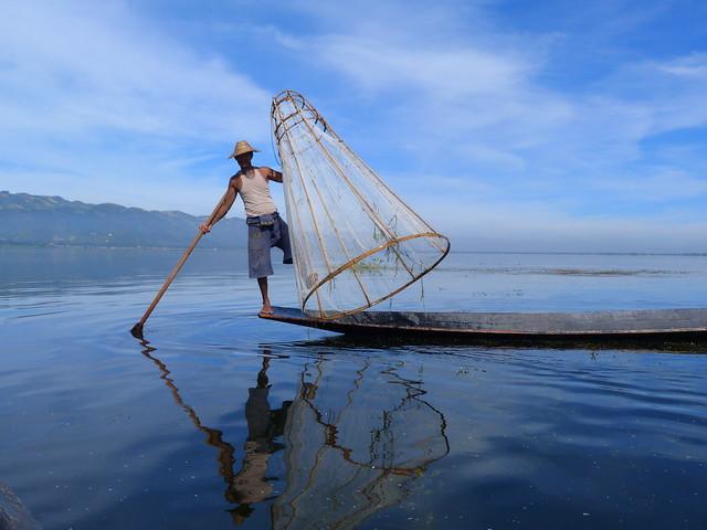 Pescador del Lago Inle (Myanmar)