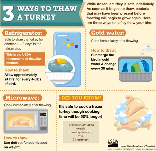 How to Defrost a Turkey Safely (USDA Standards) recommendations
