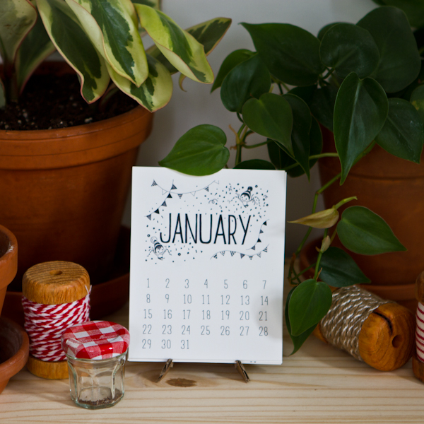 Mini Desk Nursery Calendar 2017