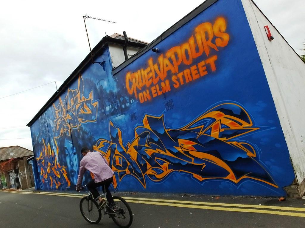 Cruel Vapours on Elm Street street art, Cardiff