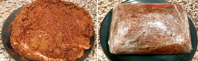 Pork Butt Roast Covered With Chili Rojo Rub