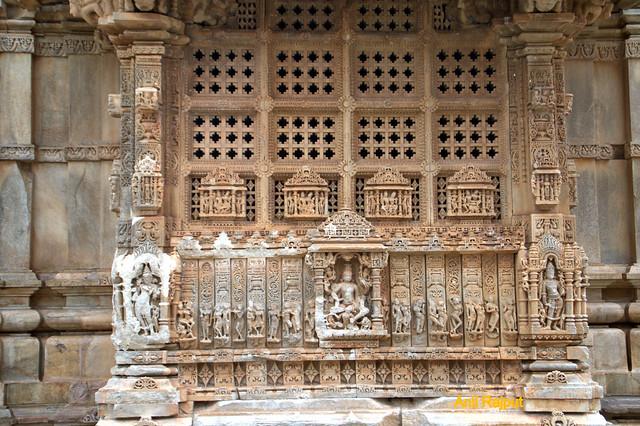 Lord Vishnu riding Garuda's sholders, Sahatrabahu Temple, Nagda, Udaipur
