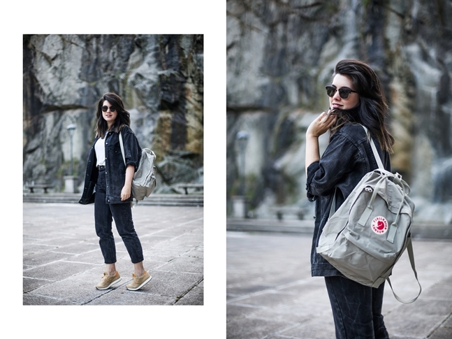 basic look with mom jeans saucony originals sneakers and kanken fjallraven7
