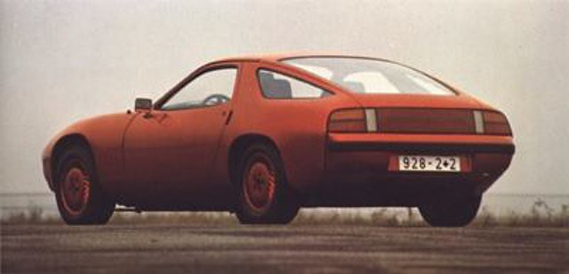 This particular early 928 concept has similar taillight styling to the Z31 300zx. Porsche being the major influence for the taillight panels of the late 70's and early 80's.