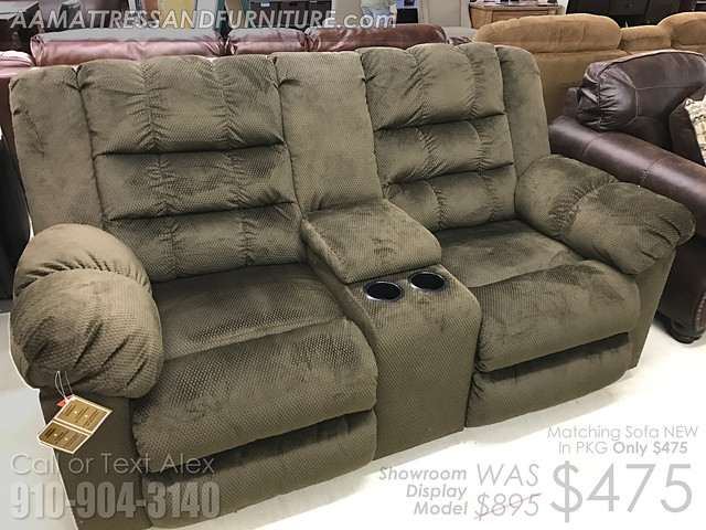Showroom Sample Chocolate Reclining Loveseat