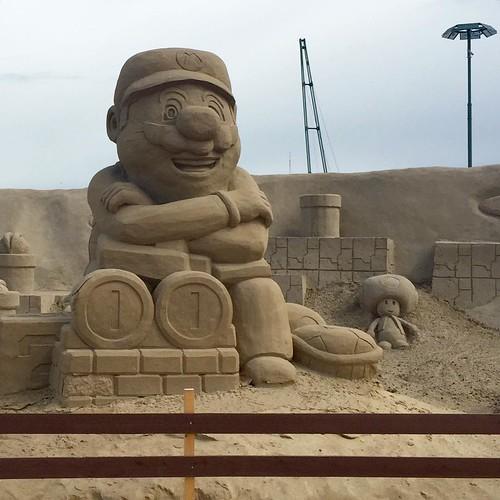 Super Mario Sand Sculpture