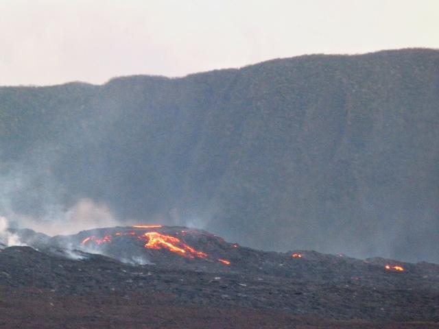 Colada de lava de Le Piton de la Fournaise (Isla Reunión)