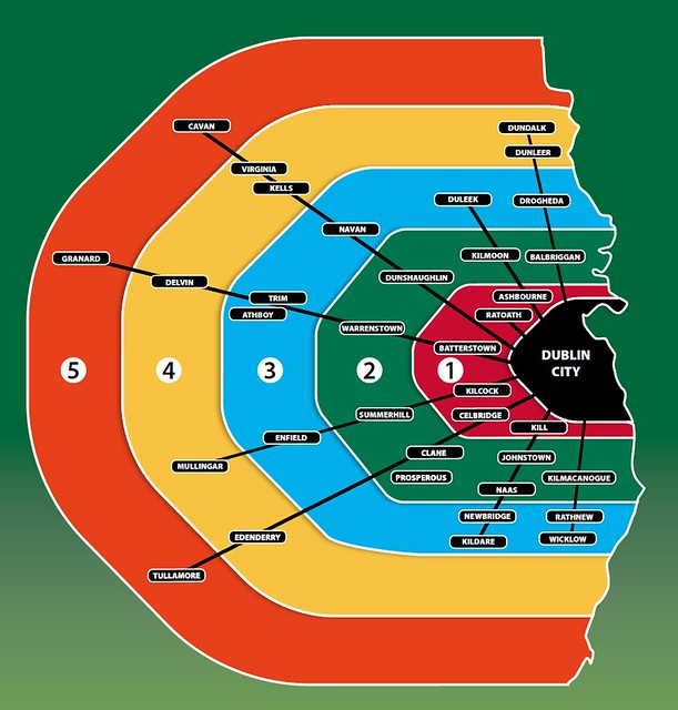 Bus Eireann Dublin Eastern Zone Map