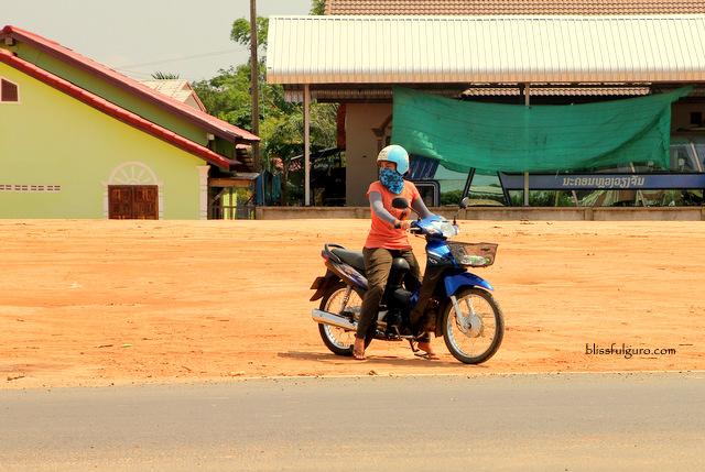 Motorbike Vat Phou Champasak Laos