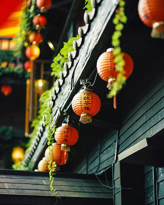 © 2016. A Mei Tea House in Jiufen. Monday, Sept. 5, 2016. Portra 400+2, Pentax 6x7.