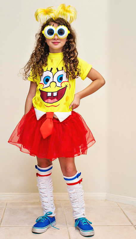 diy spongebob kids costume for girls