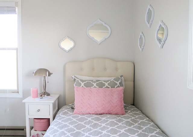 Tween Bedroom Twin Bed and Nightstand