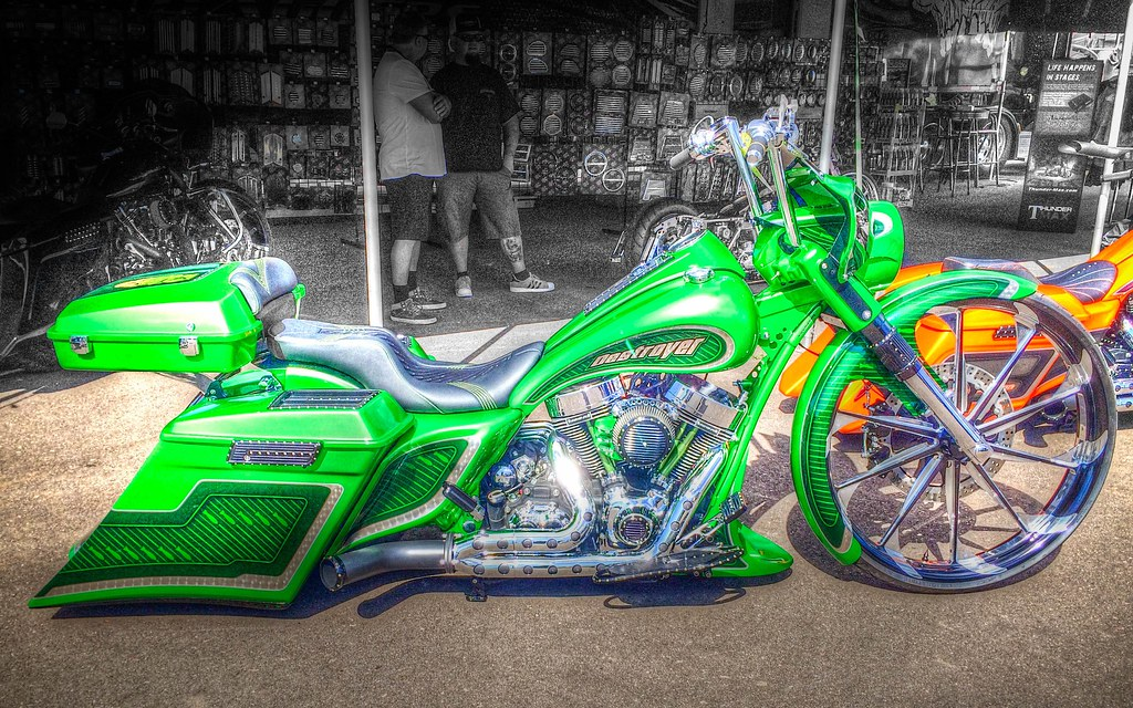 Green Paint Schemes On A Bagger