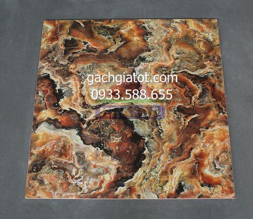 Gạch bóng kiếng toàn phần vân đá đỏ hổ phách 60x60