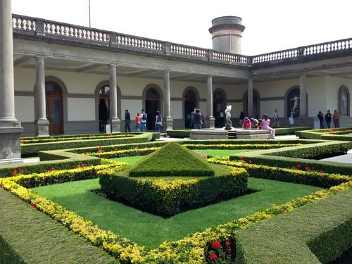 Jardim do Castillo de Chapultepec.