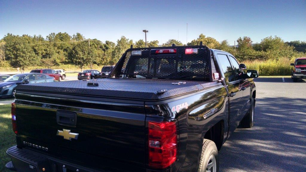 Hard Truck Bed Cover Amp Custom Headache Rack With Side Moun