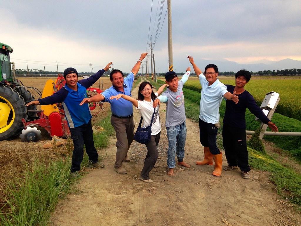 林清源帶領的農民與黑鳶研究者林惠珊,將展開一段與生態共生、兼顧農民生計的實驗田計畫。攝影:廖靜蕙