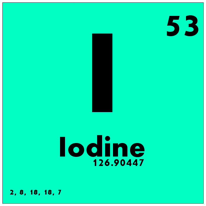 a study of the element iodine Hormones, halides and health: iodine deficiency the first large-scale study on using iodine as a rda for this element in recent years iodine.