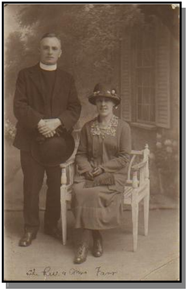 The Rev. and Mrs Farr, of St. Cuthbert's Anglican Church