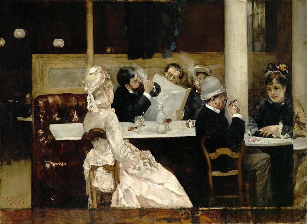 Henri gervex cafe scene in paris 1877 henri gervex for Salon prostitution paris