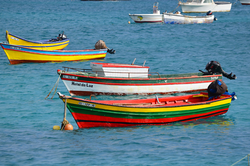 Fishing boats, Santa Maria, Sal, Cape Verde